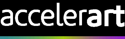 Logo accelerart blanco